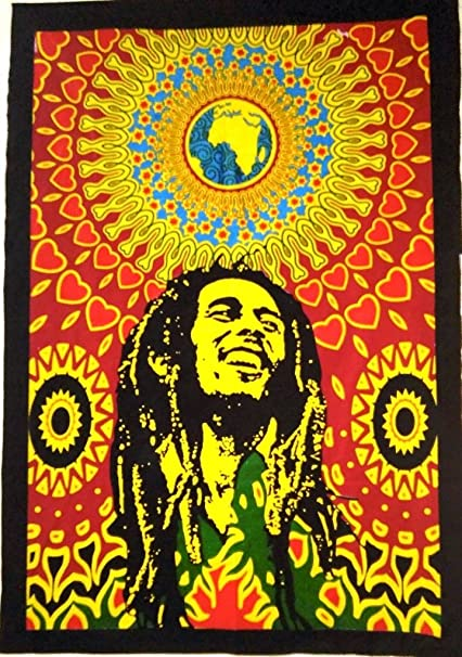 Amazon Com Bob Marley Wall Wandteppich Hippie Poster Indian Zum