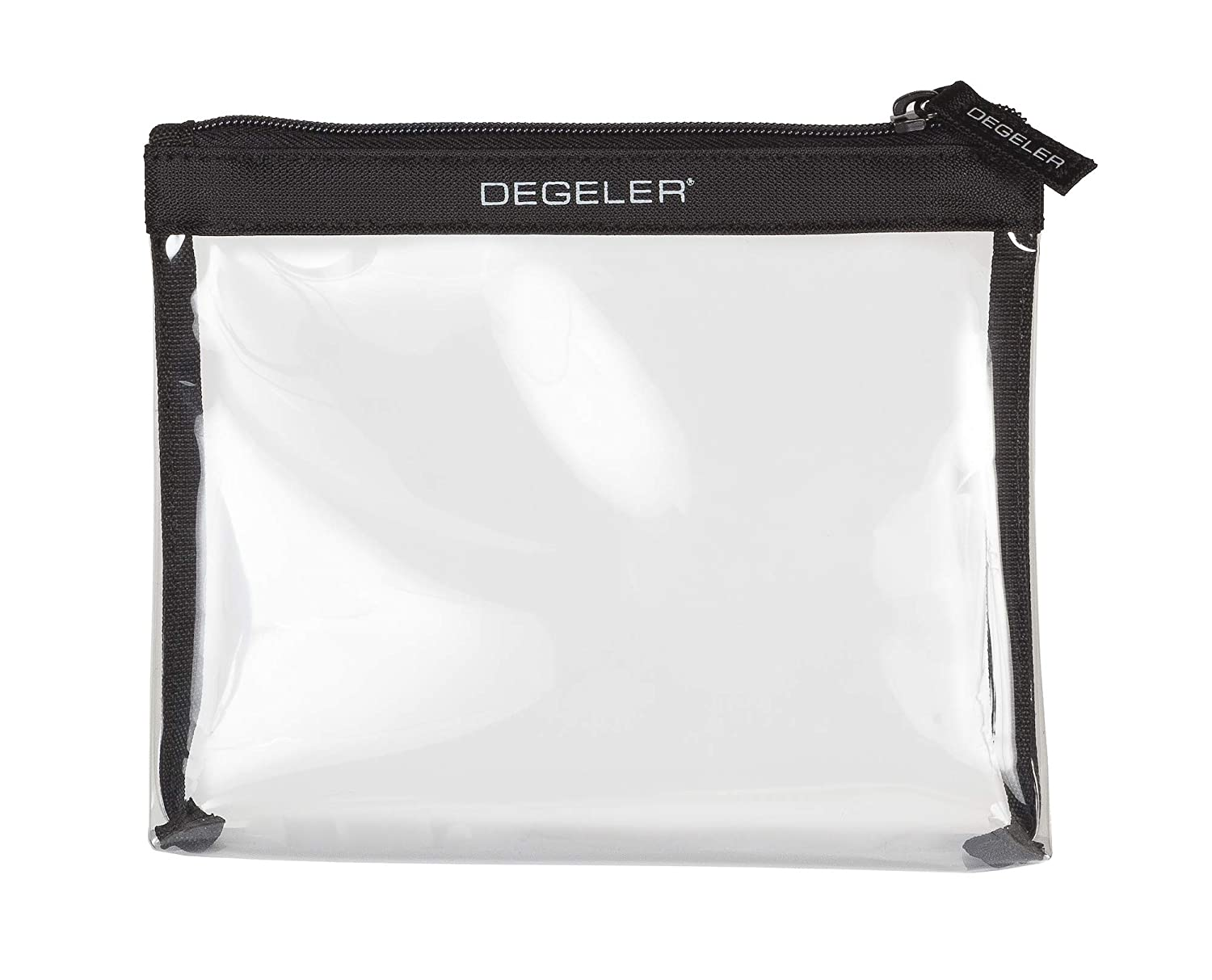 DEGELER TSA Approved Clear Travel Toiletry Bag for Carry On Luggage Airport Airline compliant Travel with Cosmetics Makeup bag for Women and Men