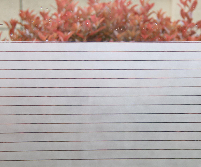 Concus-T Decorativo Pellicola della Finestra Senza colla Statico Cling Pellicola vetri Copertura della Finestra Largo a strisce glassato per la casa o l'ufficio 45x200CM