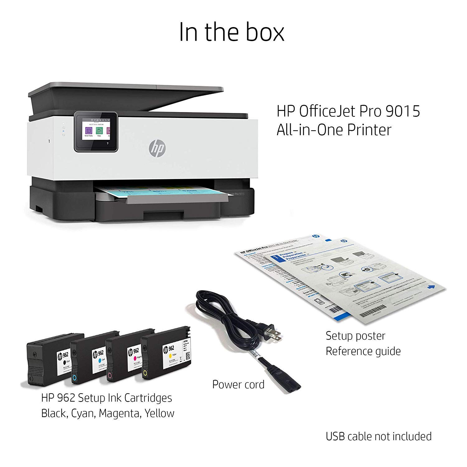 HP OfficeJet Pro 9015 All-in-One Wireless Printer, with Smart Tasks for Smart Office Productivity & Never Run Out of Ink with HP Instant Ink (1KR42A) by HP (Image #10)