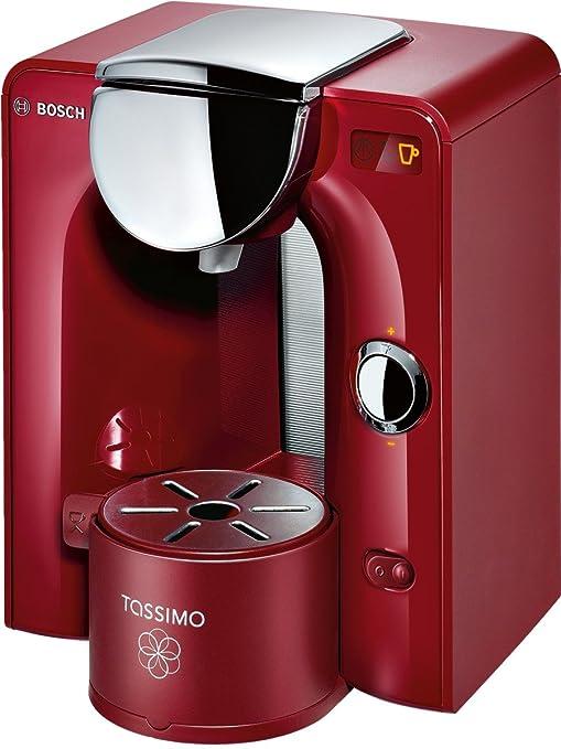 Bosch TAS5546 Tassimo - Cafetera monodosis automática, color rojo ...