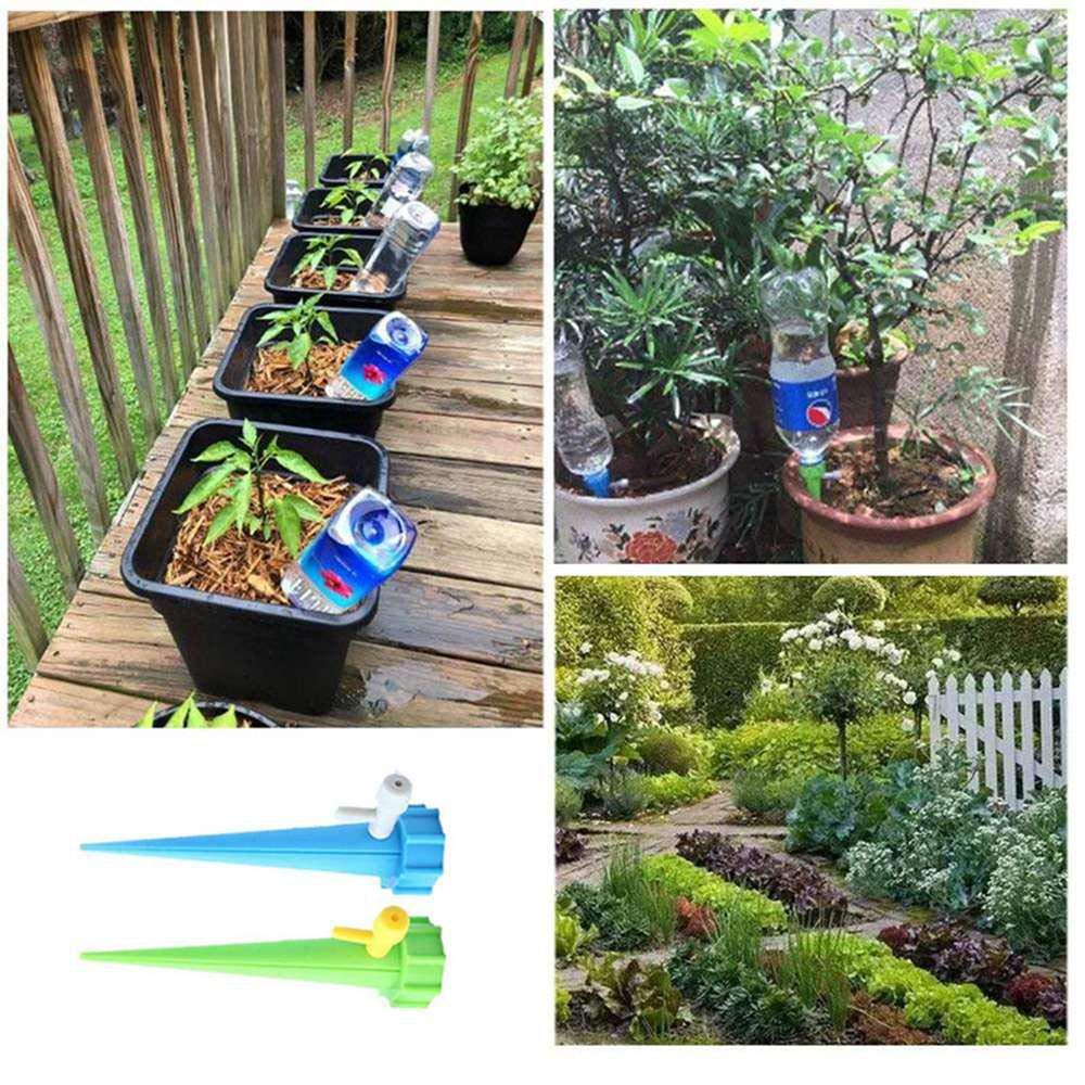 AOLVO Sistema de Riego Automático Kit de 12 Piezas, Interior Riego por Goteo Sistema de Irrigación para Bonsáis y Flores, Dispositivo de Irrigación ...