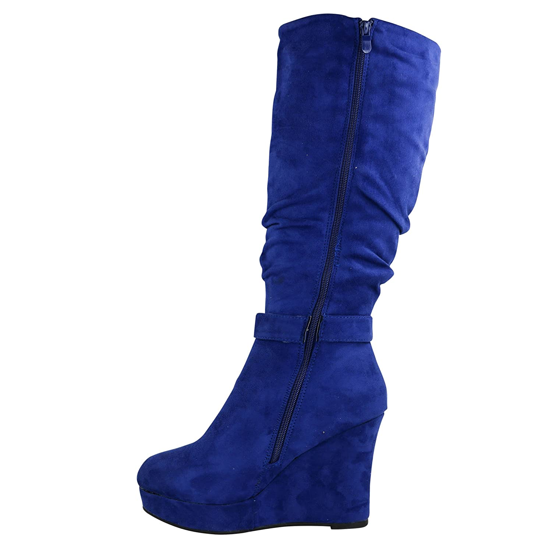 b67a62c98c6003 Schuhtraum Damen Stiefel Keilabsatz leicht gefüttert High Heels Boots Wedge  Stiefeletten JA72  Amazon.de  Schuhe   Handtaschen