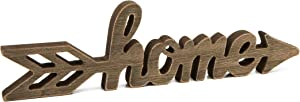 Farmlyn Creek Wood Home Sign, Wooden Arrow (12 x 3 x 0.6 in)