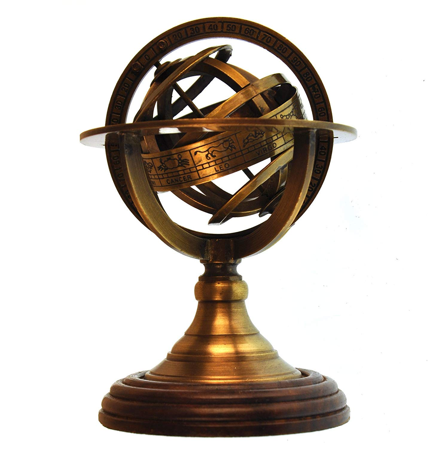 Paperweight Armillary Sphere Astrology Globe Scaled Replica Antique Scientific Instrument