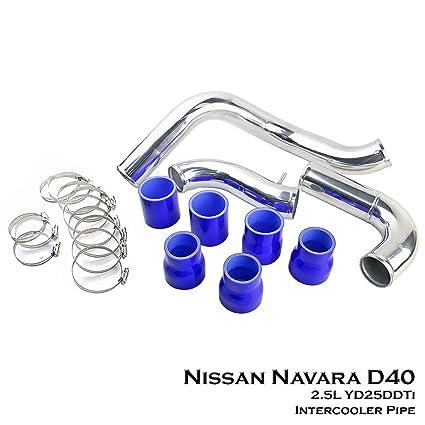 Aluminium Turbo Intercooler Piping Direct Bolt Fit For Nissan Navara D40 Pickup 2.5L YD25DDTi Diesel