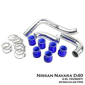 Aluminio Turbo Intercooler de tuberías de directo perno ajuste para Nissan Navara D40 pastilla 2.5L yd25ddti Diesel: Amazon.es: Coche y moto