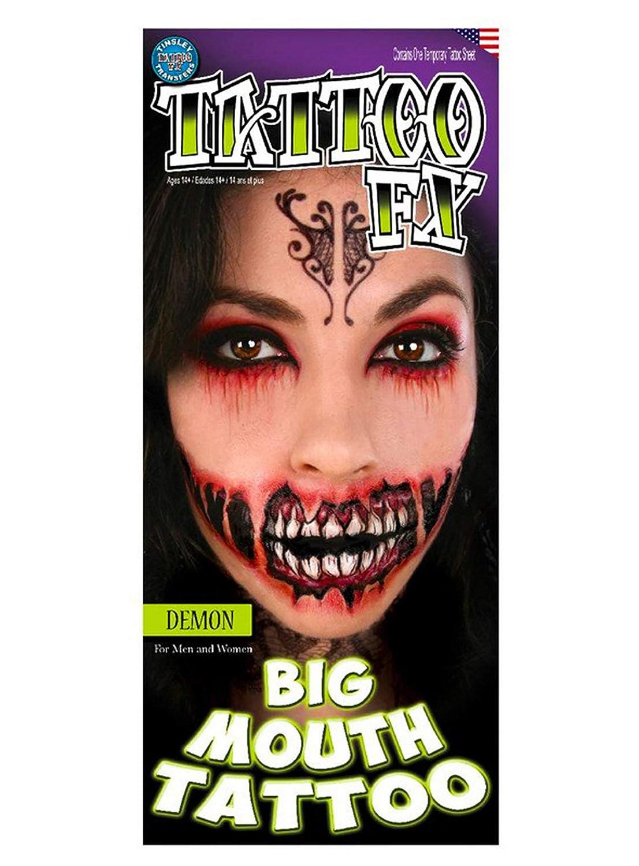 Tatuaje de demonio maquillaje boca grande FX: Amazon.es: Juguetes ...
