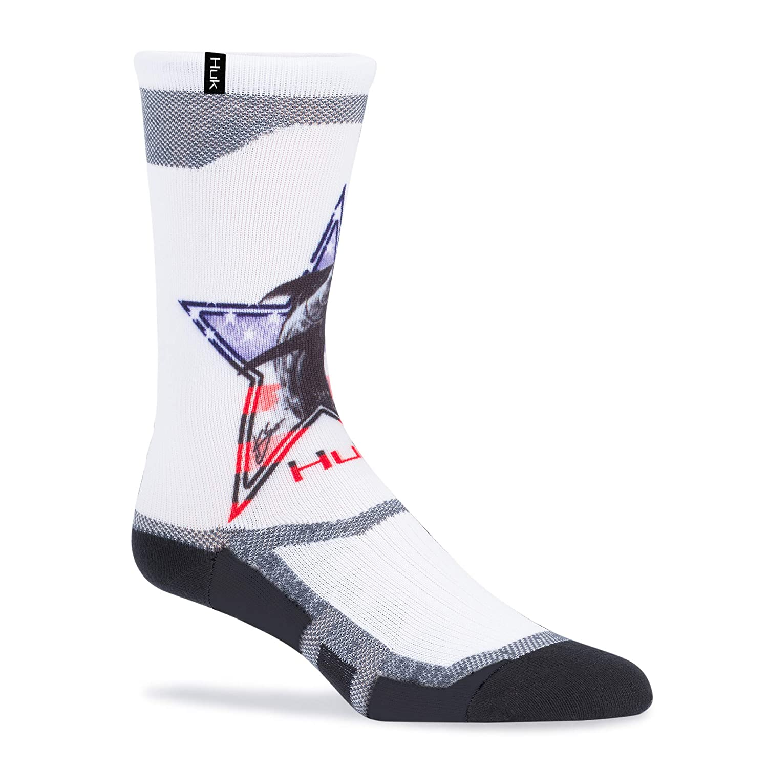 Huk Icon Graphic Crew Socks, American Marlin, X-Large Signature Products Group (SPG) A000368900305