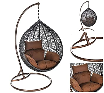 Home Deluxe Polyrattan Hängesessel | Cielo | inkl. Gestell, Sitz ...
