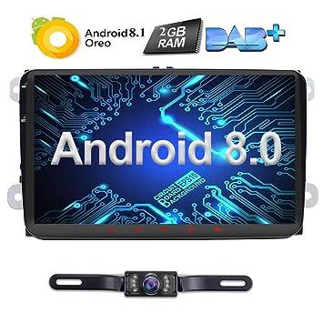 Radio para coche de 9 pulgadas Android 8.0 2 Din Oreo Quad Core 2 GB Sat