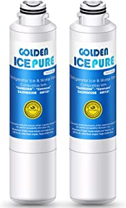 GOLDEN ICEPURE DA29-00020B Refrigerator Water Filter Replacement for Samsung HAF-CIN, HAF-CIN/EXP, DA29-00020A, DA97-08006A, DA-97-08006B,Kenmore 46-9101, RF28HFEDBSR,WF-294, WSS-2, HAF-CIN(2 Packs)