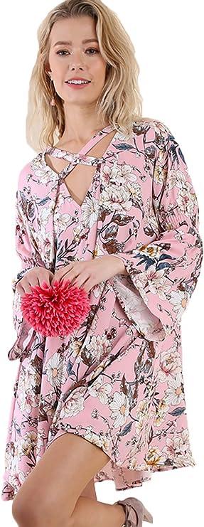 Women Bohemian Tunic or Cap Sleeve Dress