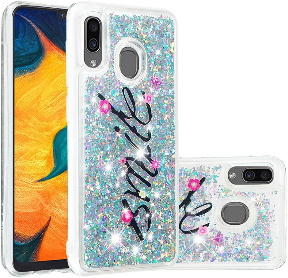 HMTECHUS Case for Samsung A20 Colorful Print 3D Laser PU Leather Wallet Card Holder Bookstyle Anti-Slip Shockproof Magnetic Closure Flip Cover for Samsung Galaxy A30 Laser Black Butterfly TX