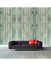 """Wood Contact Paper 17.71"""" X 78.7"""" Self-Adhesive Removable Wood Peel and Stick Wallpaper Decorative Wall Covering Vintage Wood Panel Interior Film Leave No Trace Surfaces Easy to Clean"""