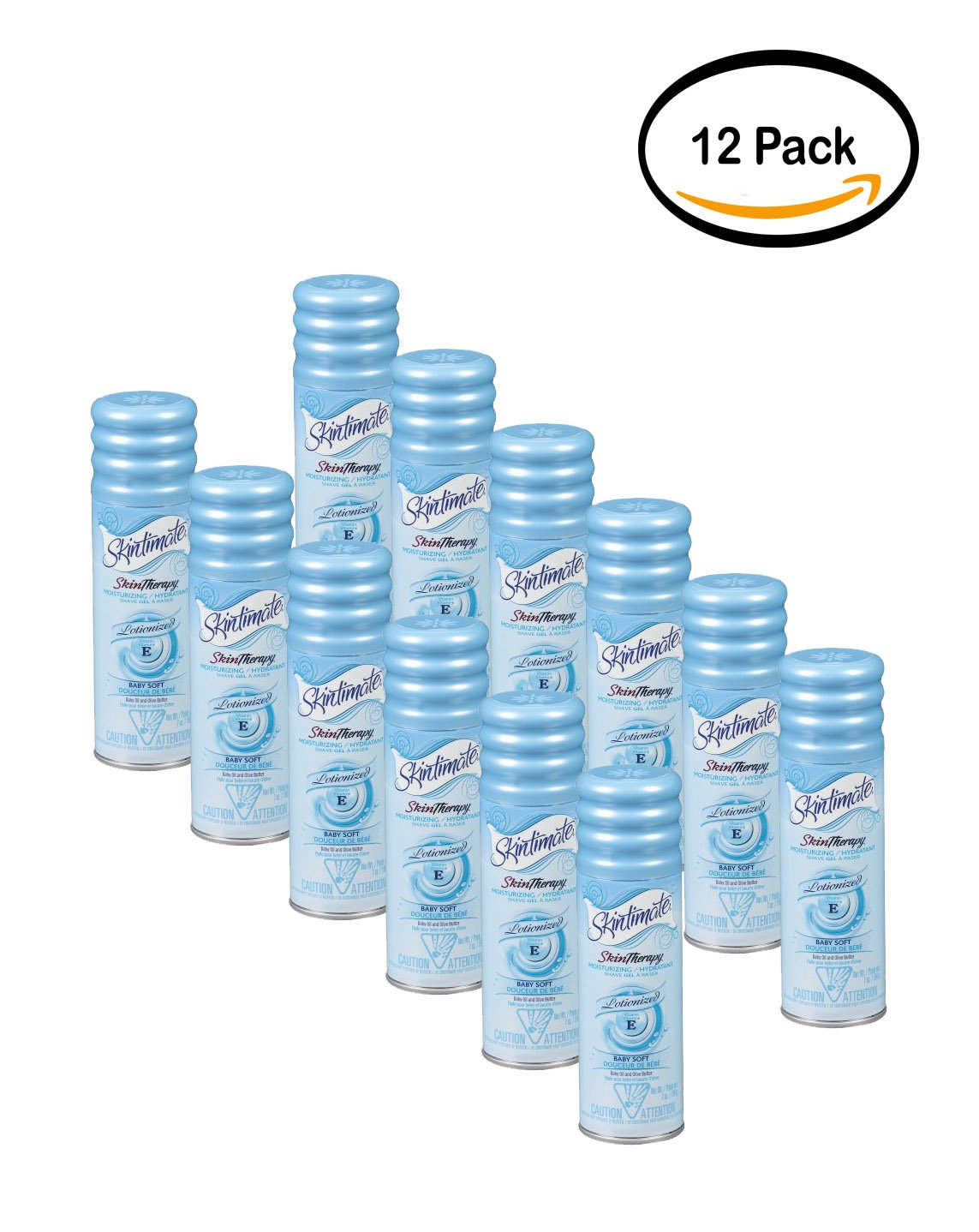 PACK OF 12 - Skintimate Skin Therapy Shave Gel, Baby Soft 7 oz