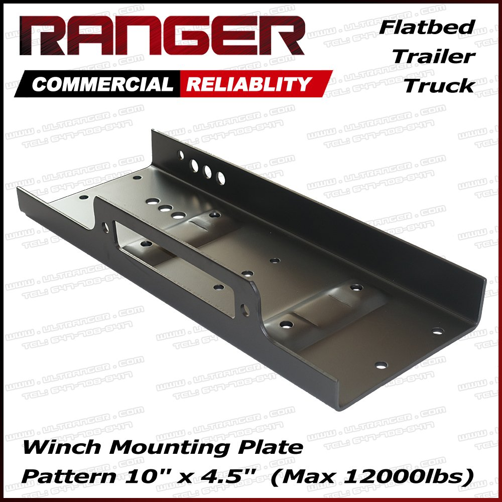 Ranger 10' x 4.5' Winch Mount Plate 12, 000 Lb Capacity for Recovery Winches by Ultranger