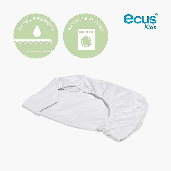 Ecus Kids Soft 3 en 1 - Protector colchón , Blanco, 75x52: Amazon.es: Bebé