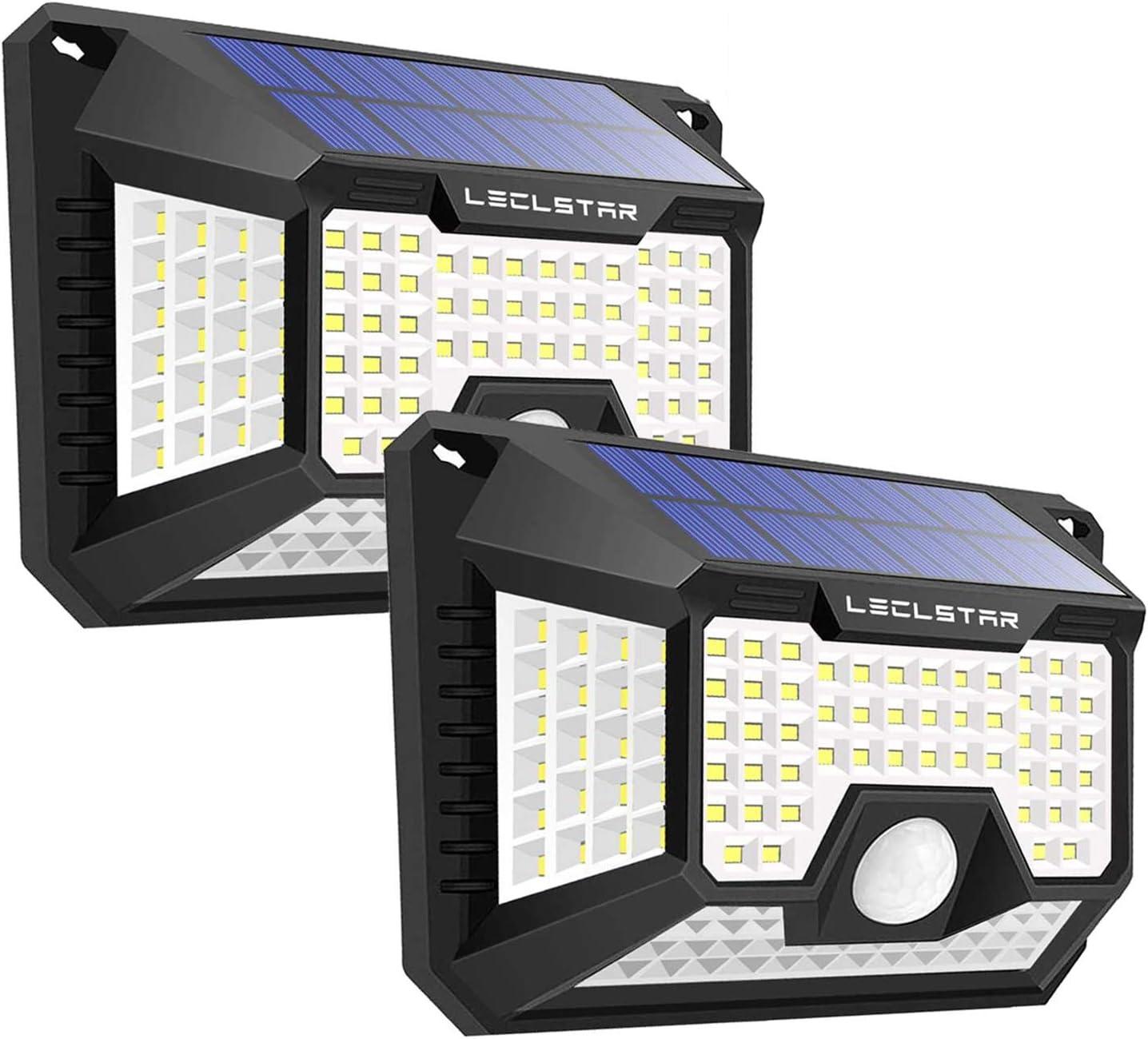 Luz Solar Con Sensor De Movimiento Al Aire Libre Nueva Actualización De 128 Led De Luces Solares Al Aire Libre Luces Solares De Movimiento Al Aire Libre Sensor De Movimiento Solar
