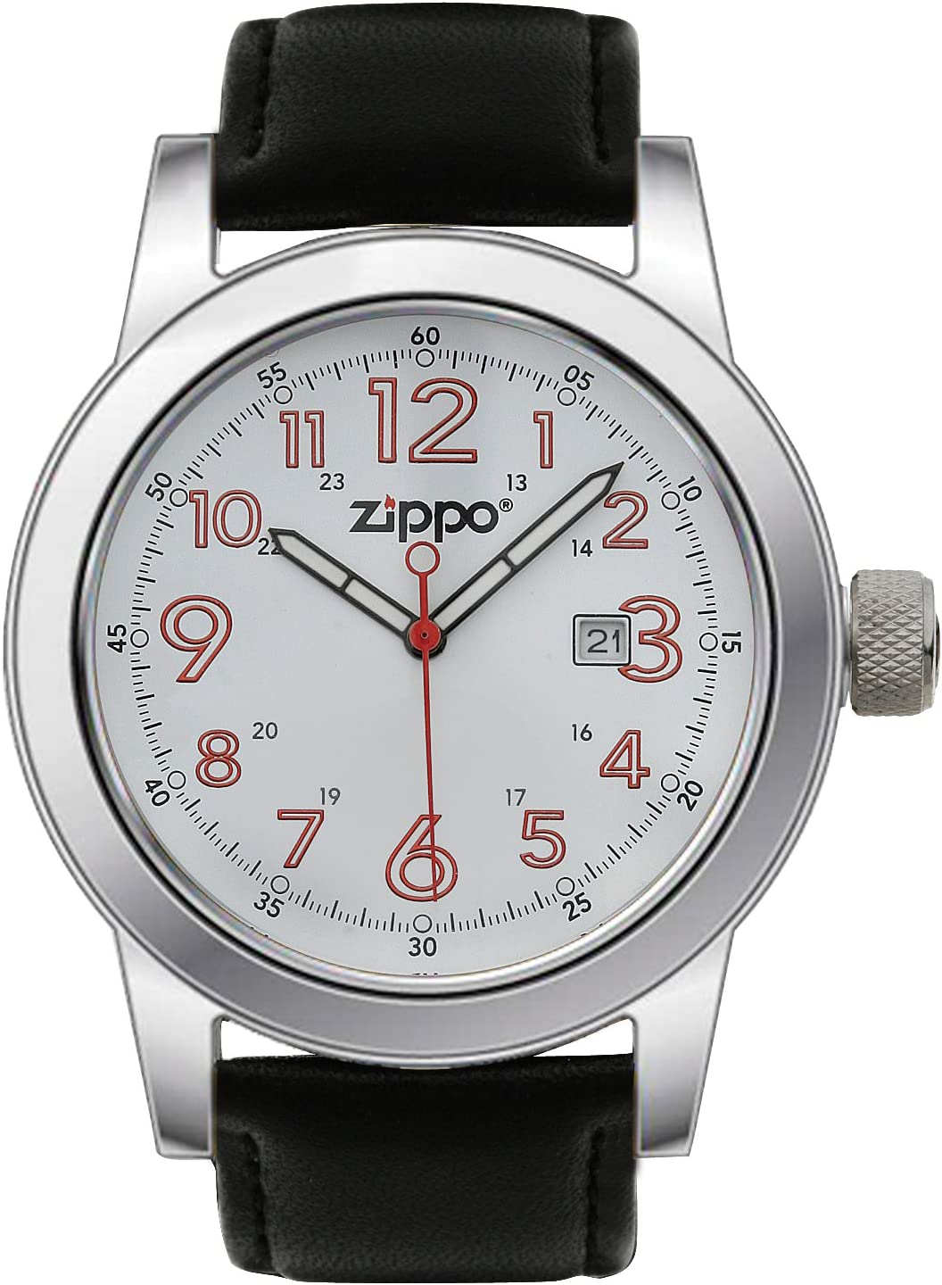 Zippo Men39 s Casual Outdoor Analog Adventure Watch – White Face Stainless Steel