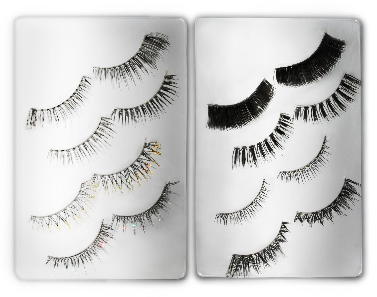 64d19a5cd9b Amazon.com : False Eyelashes 8 Flexi-band Lashes | Eyelash Extension Safe  Mascara | Hypoallergenic Lash Glue 1-2 Day Wear | Clear Lash Band Blends  with ...