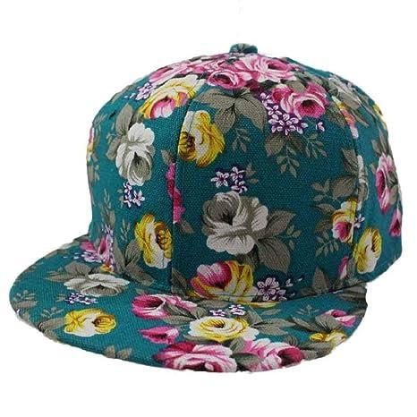 Tongshi Berretto da baseball fiori Rosa di alta qualità Hip Hop-Cappello  del piano aperto 7c6e01194d4f