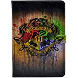 Unique Hogwarts Watercolor Art Pattern Leather Flip Stand Case Cover For Apple ipad mini 1, ipad mini 2 Retina ,ipad mini 3