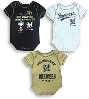 Rookie Wear by Smack Apparel Milwaukee Baseball Fans NB-4T Too Cute to be a Cardinals Fan Navy Onesie
