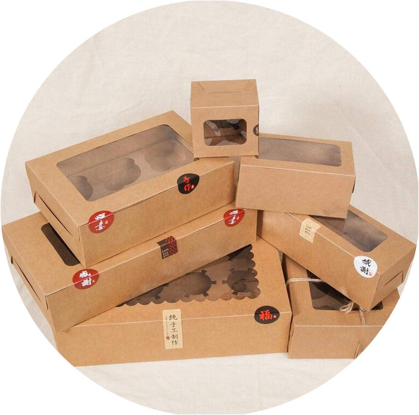 smile-xj Caja de cartón para 6 Cupcakes y Papel de Embalaje para Tartas con Ventana de PVC Transparente, 8 Magdalenas, 4 Cajas de Regalo: Amazon.es: Hogar