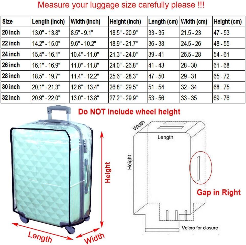 20 inch Hibate Couvertures Housse Protection de Bagages /à Roulettes pour Valises 47-78cm XS S M L XL XXL XXXL