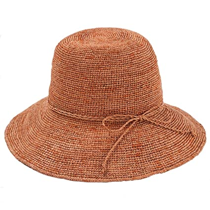 9509fefed Image Unavailable. Image not available for. Color: YL Lafite Straw Hat  Summer Lady Sunscreen Travel Seaside Sunshade Folding Beach Hat Wild Korean  Basin