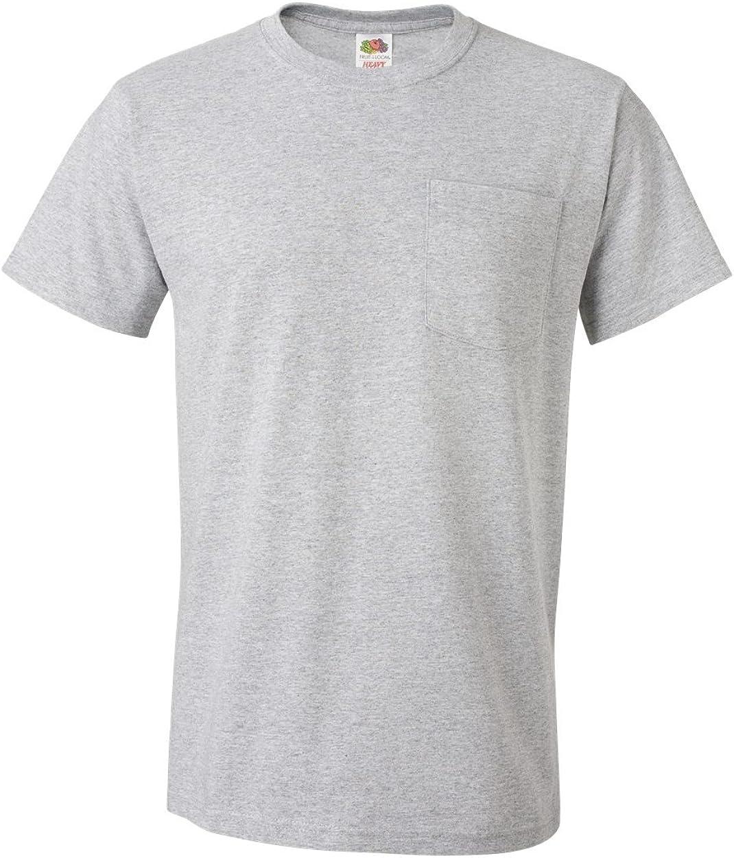 Fruit of the Loom Mens Super Premium Short Sleeve T-Shirt Pack of 5