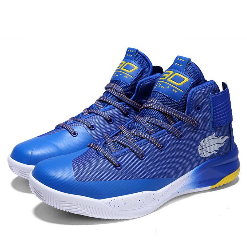 GAOLIXIA Mallas de baloncesto de los pares de los hombres Zapatillas de deporte antideslizantes de verano Zapatos casuales Unisex Zapatillas de deporte Competición atlética Zapatillas de deporte ( Color : Azul , tamaño : 45 ) 45|Azul