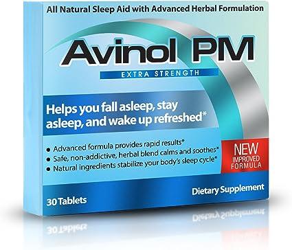 Amazon.com: Avinol PM, Extra Strength. Ayuda natural para ...