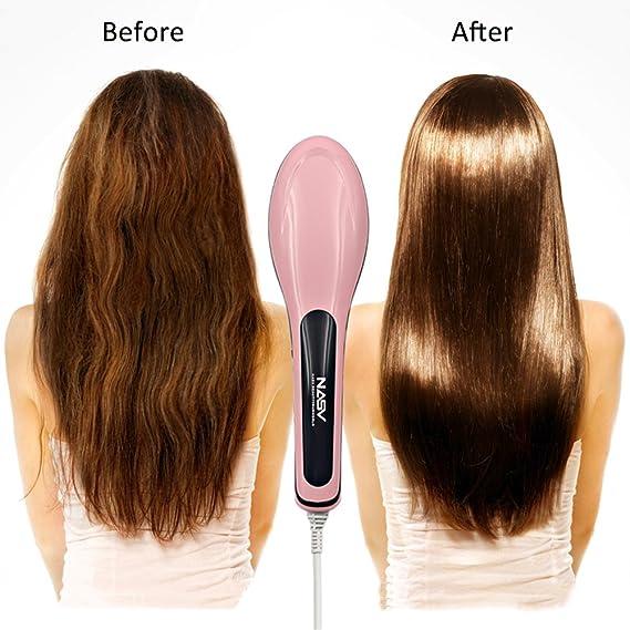 Valuetom cepillo alisador de pelo cabello cepillo Peine para desenredar el cabello de cerámica calefacción eléctrica digital Anion cuidado del cabello, ...