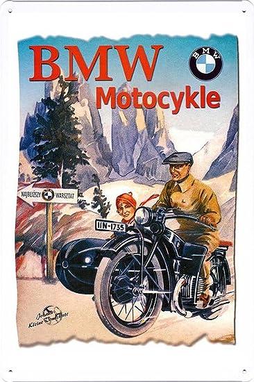 Amazoncom BMW Motocykle Motorcycles X Tin Poster Metal - Bmw motorcycle tin signs