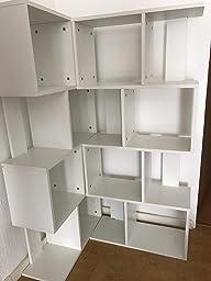 Bücherregal weiß modern  ts-ideen Standregal Bücherregal CD-Regal Aufbewahrung Holz Weiß ...