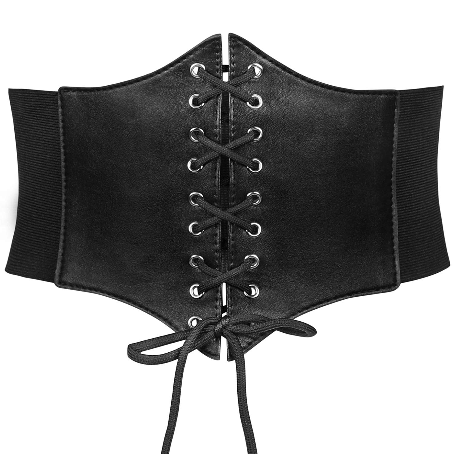 Women's Elastic Costume Waist Belt Lace-up Tied Waspie Corset Belts for Women by JasGood Christmas Gift