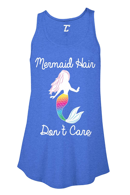 Mermaid Hair Don't Care - Magic Spirit Animal Women's Flowy Tank Top