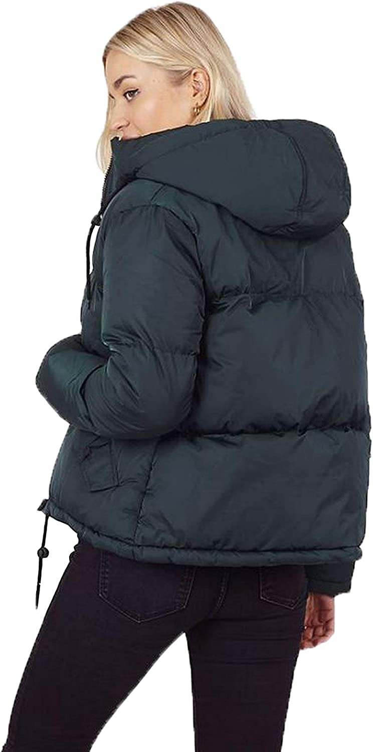 BRAVE SOUL Womens Padded Jacket Cello Hooded Coat Puffer Quilted Zip Up New