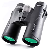 NOCOEX 10x42 HD Puissantes Jumelles Compactes Prisme de Toit, étanche, Anti-brouillard Et Anti-Chocs, Convient Pour Observation d'oiseaux, Paysages Et Chasse, Noir
