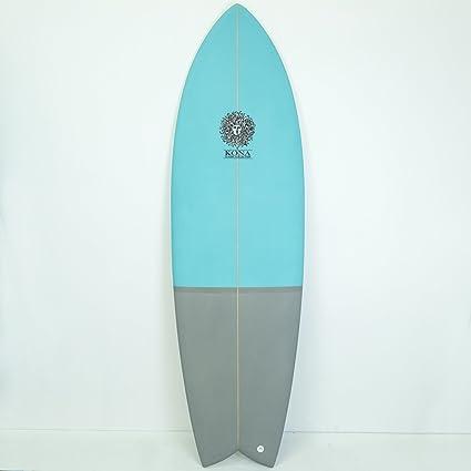 Kona Retro corto tablas de surf de pescado en azul/gris SZ: 6ft: Amazon.es: Deportes y aire libre