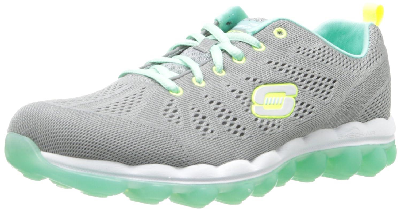 a94a44c27557 Skechers Skech-AIR Inspire Ladies Gym Trainers Gray Aqua UK 8   Amazon.co.uk  Shoes   Bags