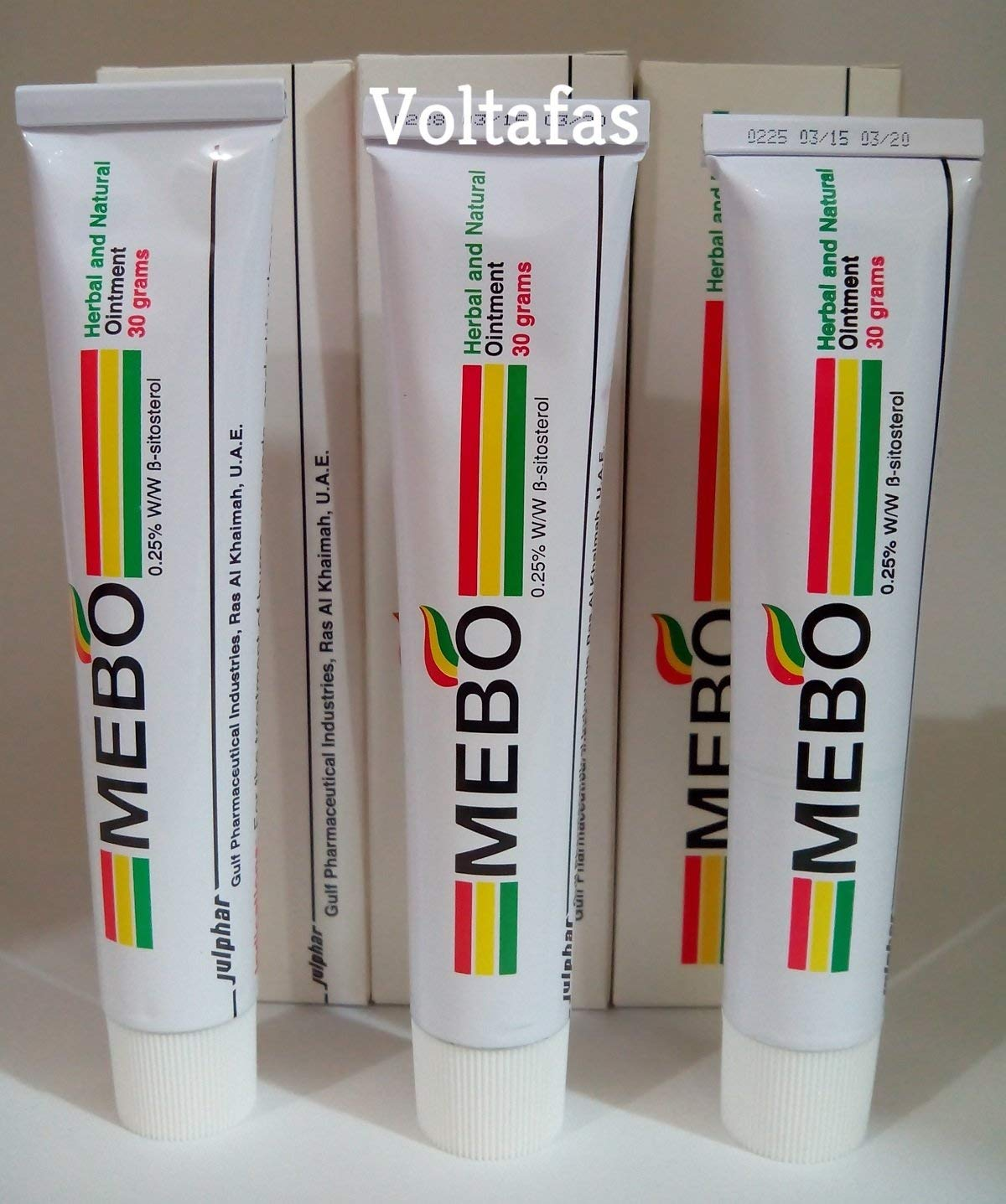 3 PCs of Mebo Burn Fast Pain Relief Healing Cream Leaves No Marks 30 Grams