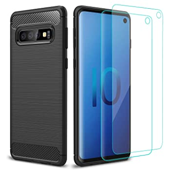 Pack Funda Silicona Cell Phones & Accessories Cristal Templado Samsung Galaxy S10 Protector Carcasa Tpu