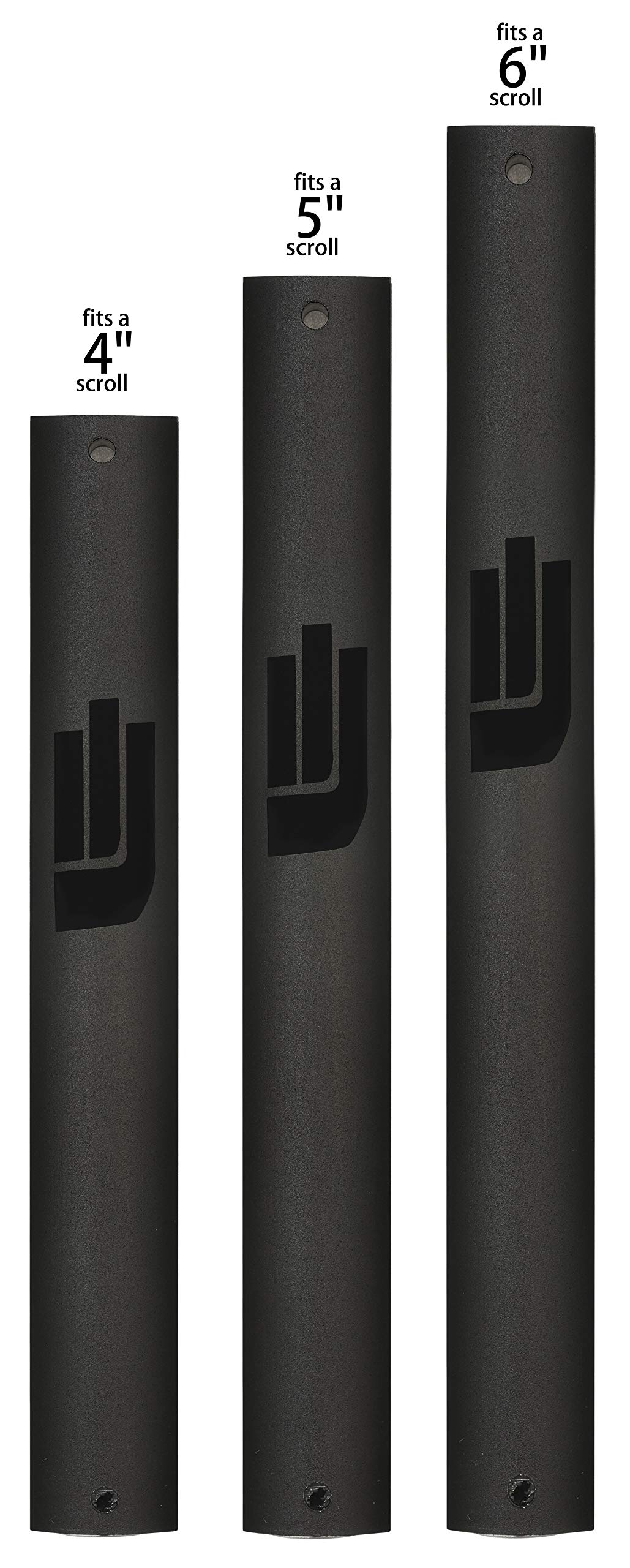 Aluminum Mezuzah Case Easy Peel & Stick Weather Proof (black, 12cm 5inch)