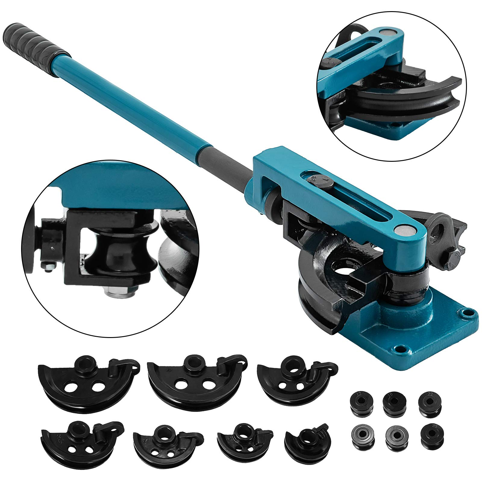 0.047 Wall Thickness 180 Degrees Bend Angle Baileigh RDB-25 Cast Iron Manual Rotary Draw Tube Bending Set