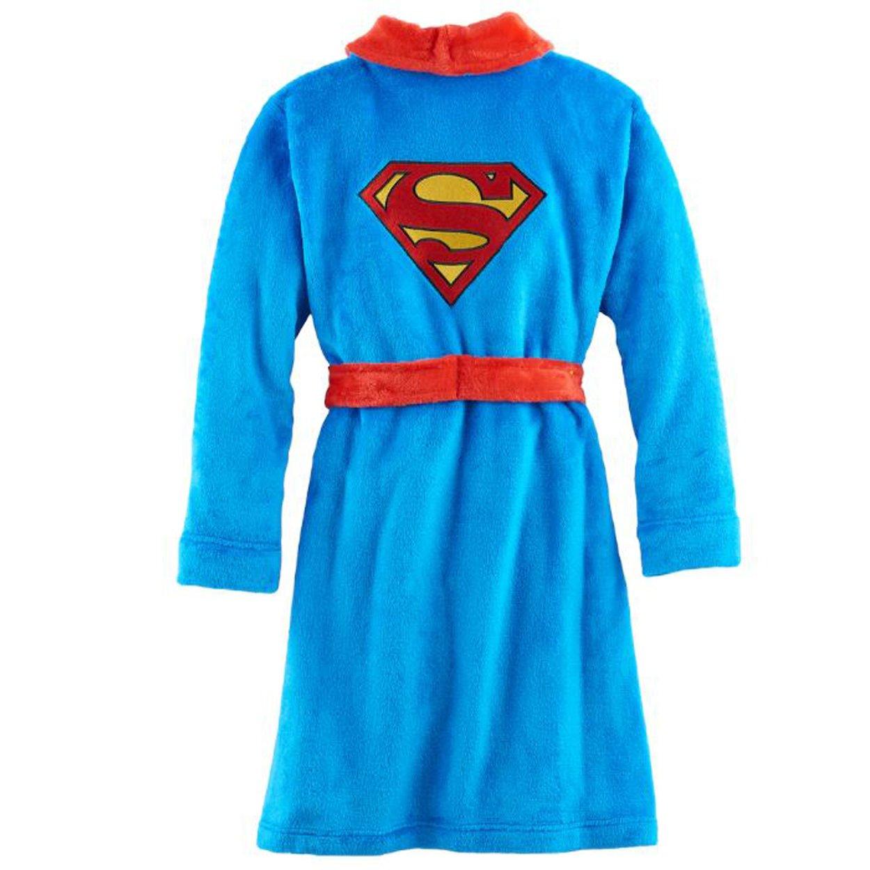 Komar Kids Superman Boys Fleece Bathrobe Robe (Medium/8, Blue) by Komar Kids (Image #2)