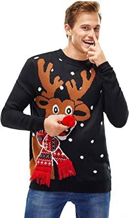 Funny Cool Outwear Christmas Deer Bird Tree Pattern Pullover Hooded Sweatshirts for Boys Mens
