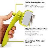 hipidog Dog Hair Brush, Self-cleaning Slicker Brush